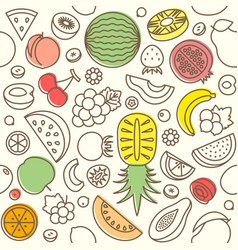 Seamless pattern of various fruits vector
