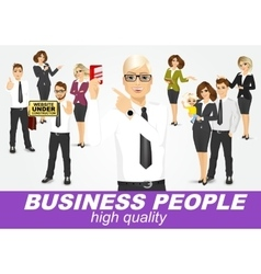 set of diverse business people vector image vector image