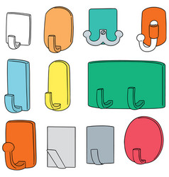 set of wall hooks vector image