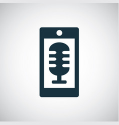 Smartphone microphone icon for web and ui on white vector