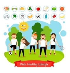 Sport children summer activity vector image