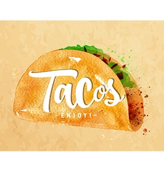 Tacos kraft vector image