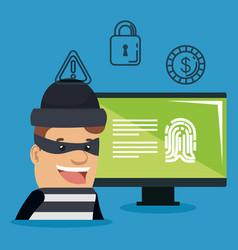 Theft identity avatar character vector