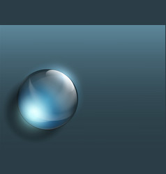 transparent crystal ball on a dark background vector image