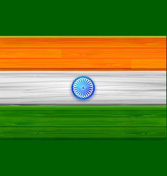 tricolor indian flag background for republic an vector image