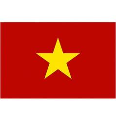 vietnamese flag vector image