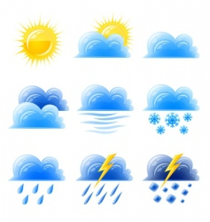 weather climatic icon vector image