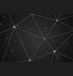 wireframe connecting background vector image