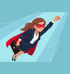 Young caucasian superhero woman wearing business vector