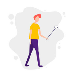 young millennials man with smart phone vector image