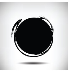 Black grunge circle background vector