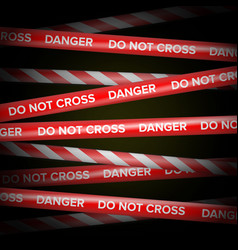 Danger tape red and white lines do not vector