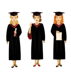 girl isolated graduate vector image