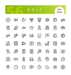 Golf Line Icons Set vector image vector image