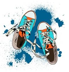 Gumshoes sketch grunge vector image
