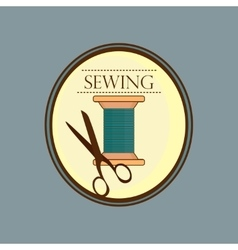 Hand drawn sewing lable vector image vector image