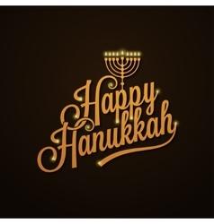 Hanukkah Vintage Lettering design Background vector image