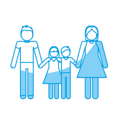 Pictogram family design vector