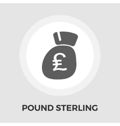 Pound sterling icon flat vector image vector image