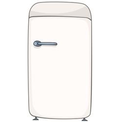 cartoon home kitchen refrigerator vector image vector image