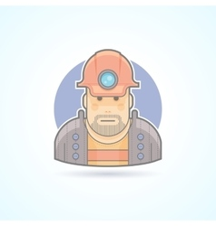 Miner worker icon avatar and person vector