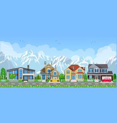 small village landscape vector image