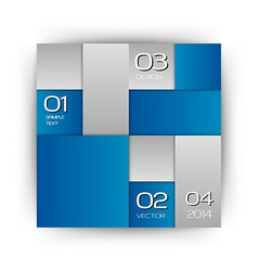 business squares blue white with text vector image vector image