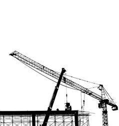 crane silhouette vector image vector image