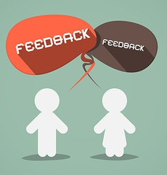 Feedback flat design symbol with paper people vector