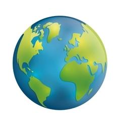 Planet icon Earth sphere design graphic vector image