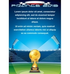 Soccer Cup Background Ready for Your Text vector image