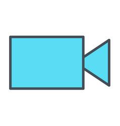 video camera line icon vector image vector image