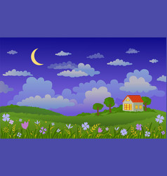 beautiful landscape at vector image vector image