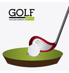 Golf design vector image vector image