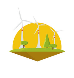 wind energy power turbine electricity flat design vector image vector image