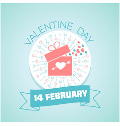 14 february valentine day vector