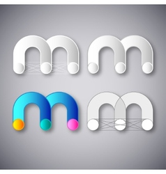 Abstract combination letter m vector