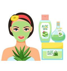aloe vera juice organic cosmetic vector image