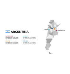 Argentina map infographic template slide vector