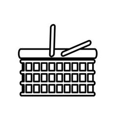 basket picnic food outline vector image