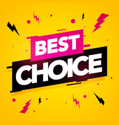 best choice label modern dynamic sales banner vector image
