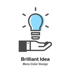 Brilliant idea mono color vector