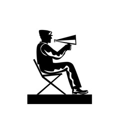 Director with Megaphone vector