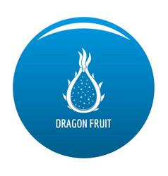 dragon fruit icon blue vector image