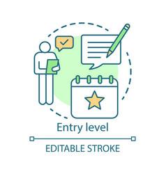 Entry level concept icon job for graduates idea vector