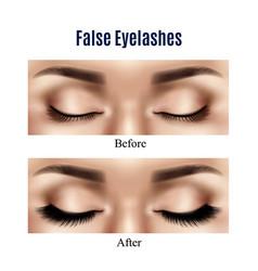 eyes false lashes realistic vector image