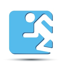 Flat icon with symbol Running people vector image