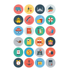 Flat Travel and Tourism Icons 4 vector