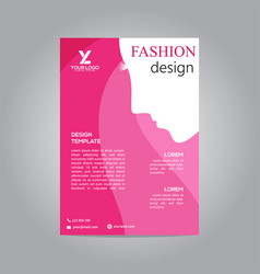 flyer brochure design template business fashion vector image