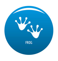 Frog step icon blue vector